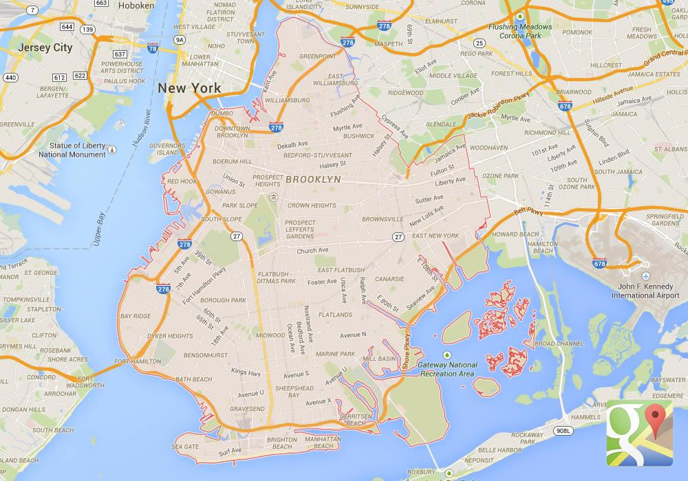 Mappa del Distretto di Brooklyn