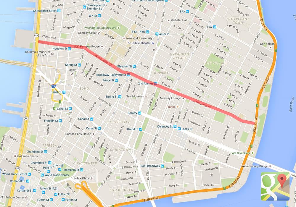 Houston Street linea di demarcazione