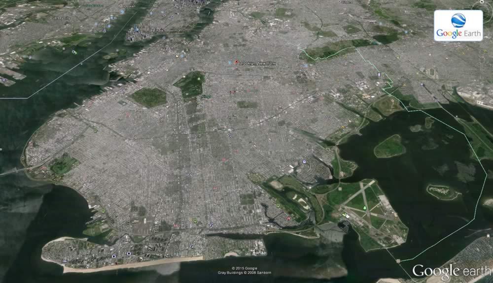 Mappa aerea del distretto di Brooklyn