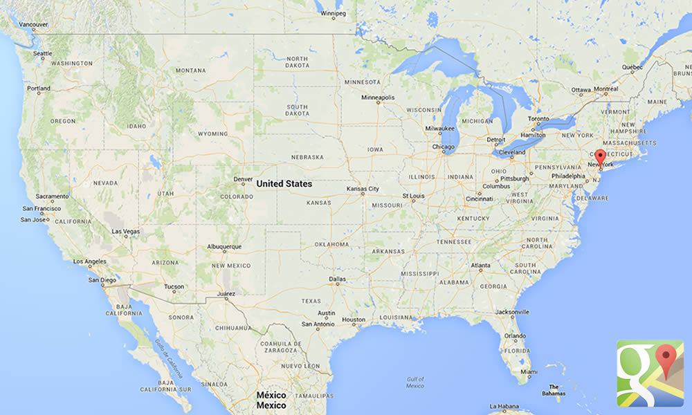 Posizione New York negli USA