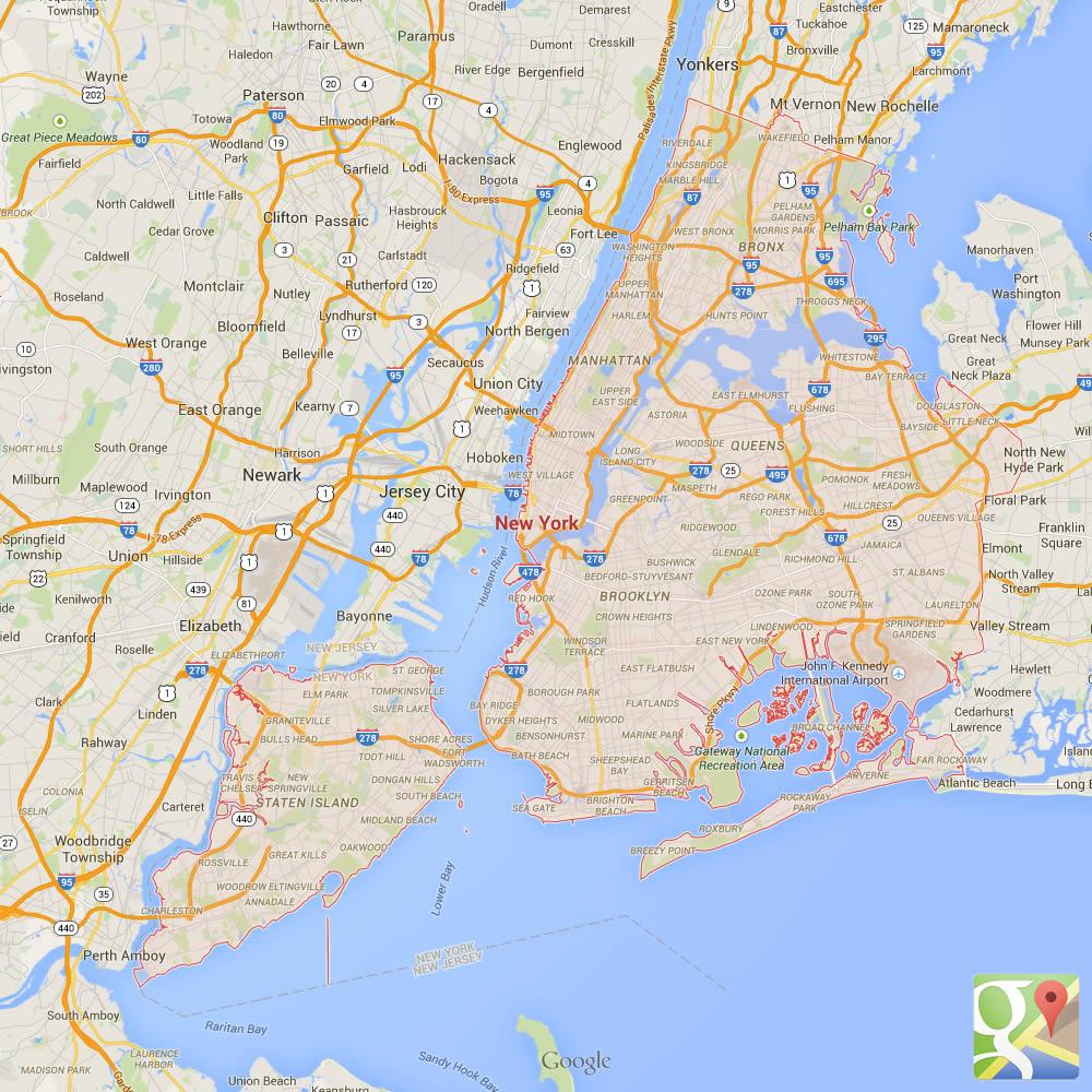Il territorio della città di New York